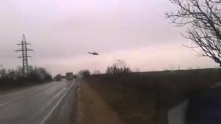 Вертолеты летят на Бельбек (Аэропорт Севастополя)