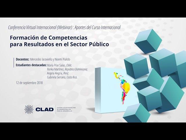 Webinar Formación de Competencias para Resultados en el Sector Público, Iacoviello-Pulido
