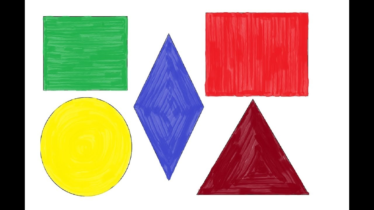 Painting Square, Rectangle,Circle,Triangle | Coloring Pages for Kids ...