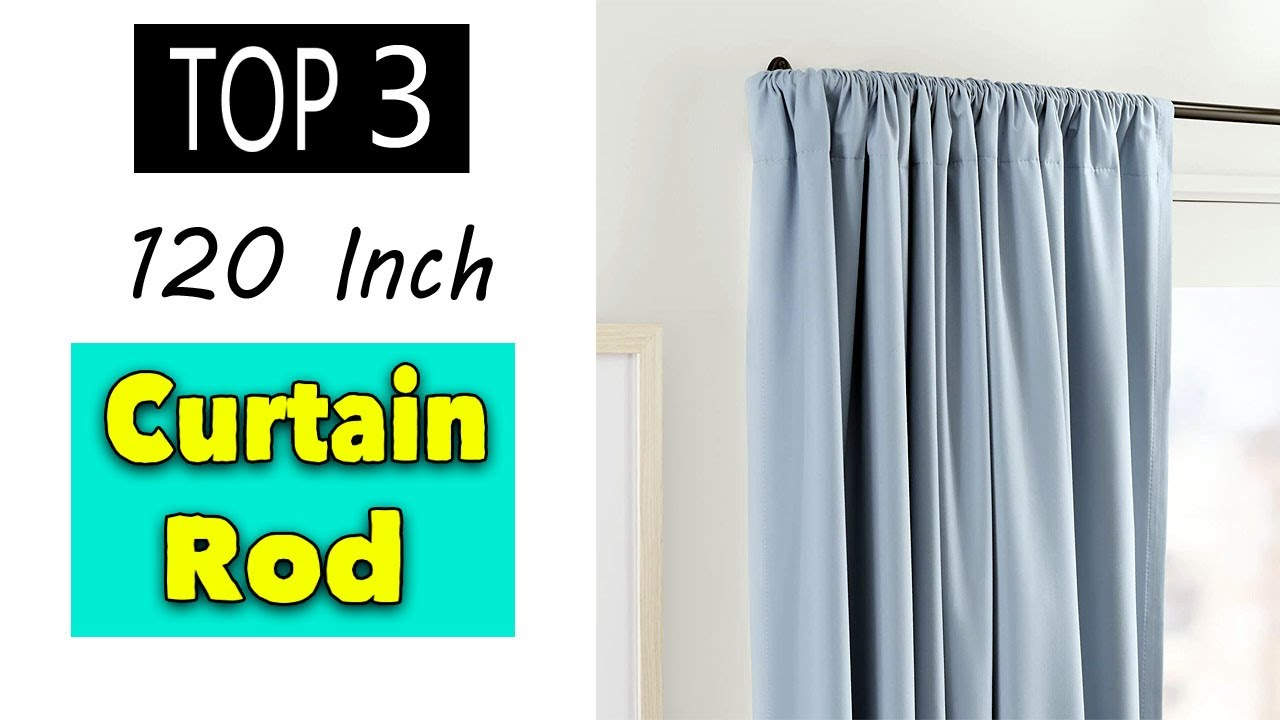 best 120 inch curtain rod without center support sliver black bronze