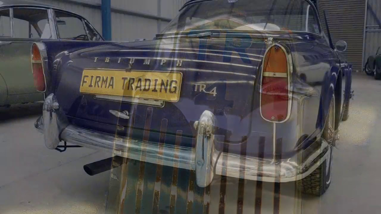 Triumph TR4 with rare surrey top at Firma Trading Classic Cars ...