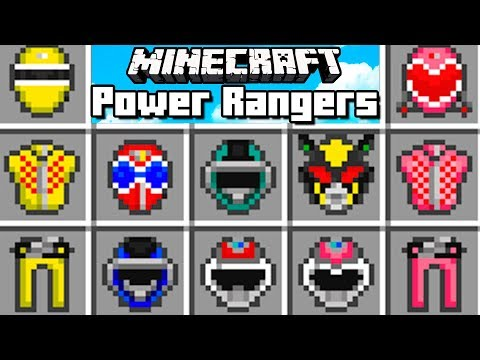 Minecraft - POWER RANGERS MOD   El Power Ranger que siempre soñaste!!