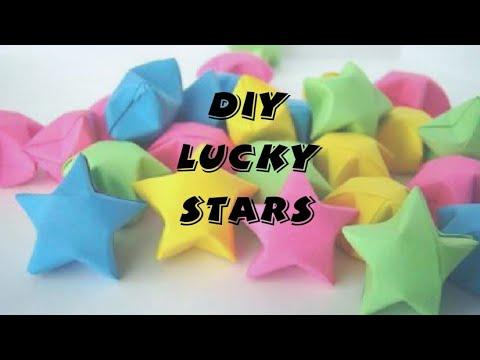 Lucky paper stars tutorial