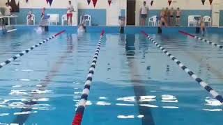 Плавание 50 метров баттерфляй 1 место 38:12 выполнение 1 юношского разряда