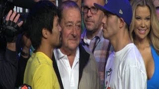 Manny Pacquiao vs  Brandon Rios full weigh in video (HD)