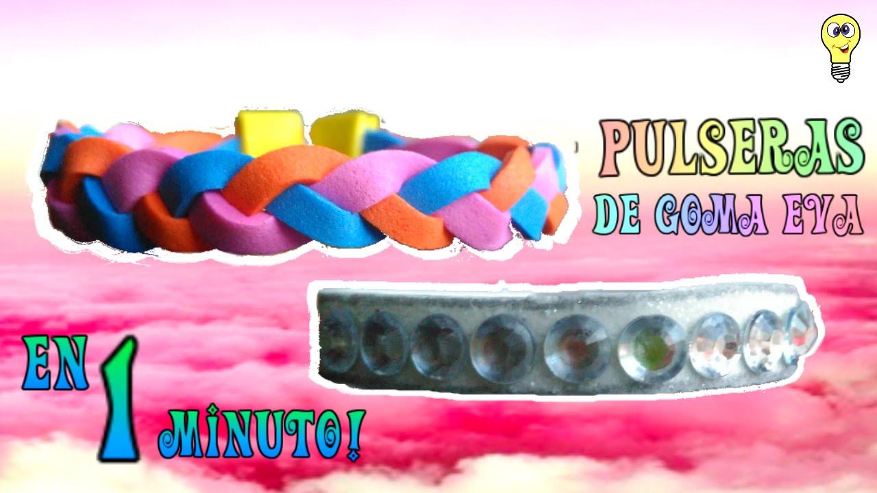 Pulseras de goma eva en 1 minuto youtube for Como hacer pulseras de goma eva