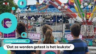 Zo gaat het opbouwen van attracties op de grootste kermis van de Benelux