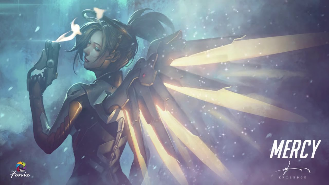 Wallpaper Mercy Overwatch