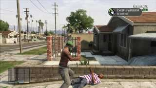 Repeat youtube video GTAV : Gang War / Epic Police Chase and Shootout [Free-Aim Only]