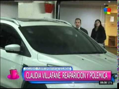 Escandalosa y violenta aparición de Claudia Villafañe en un teatro