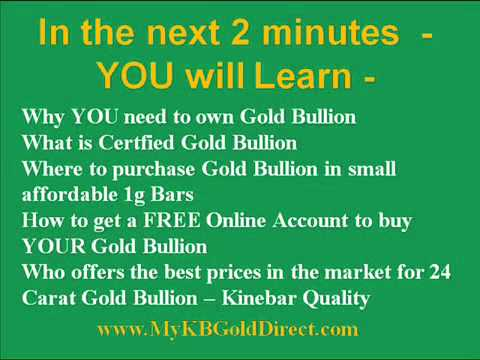 I want to buy Gold Bullion