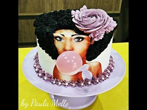 Afro Girl Birthday Cake