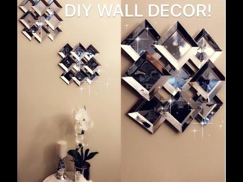 Diy Faux Mirror Wall Decor Youtube