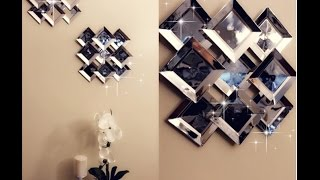 DIY Faux Mirror Wall Decor