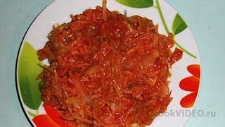 Тушеная капуста с рисом видео рецепт UcookVideo.ru
