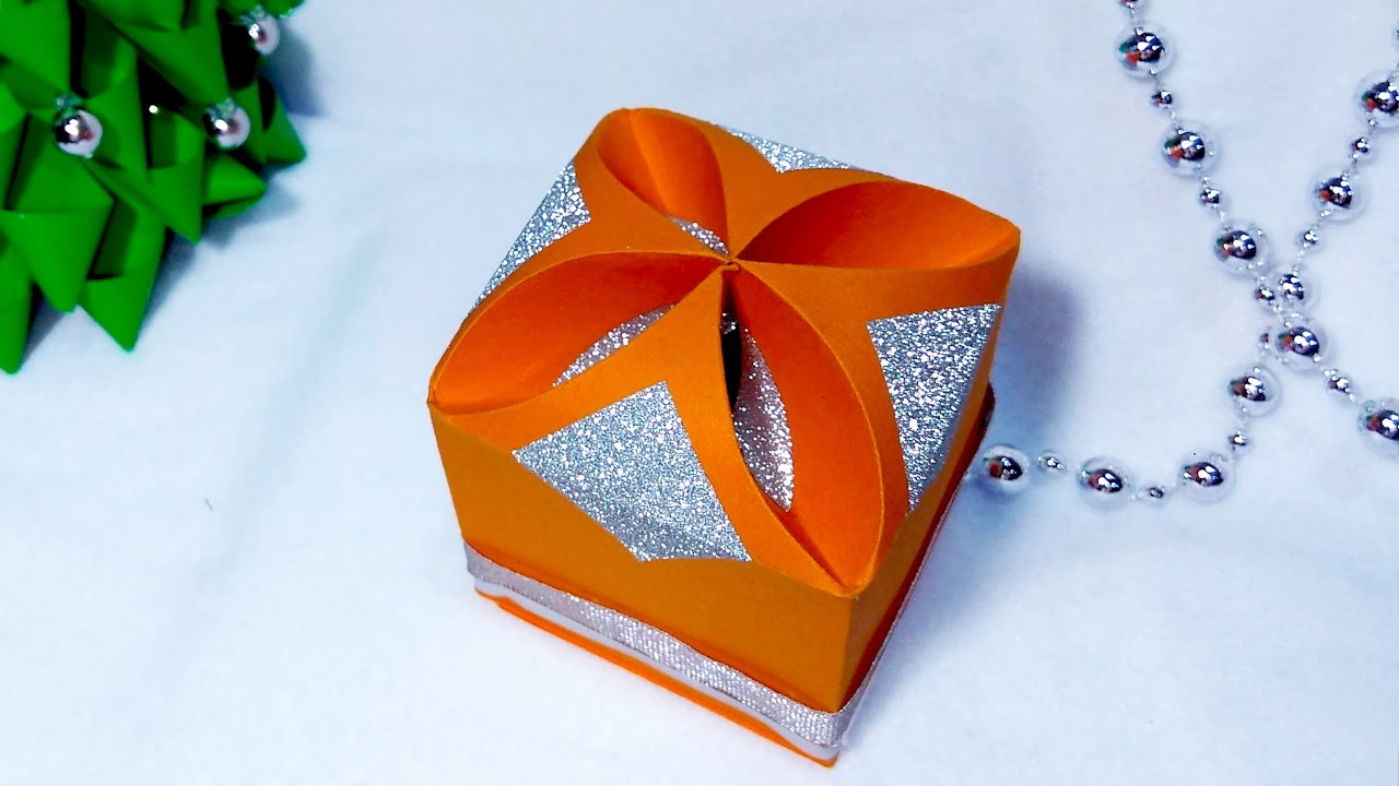 Diy Gift Box No Templates Any Size Super Easy Paper You