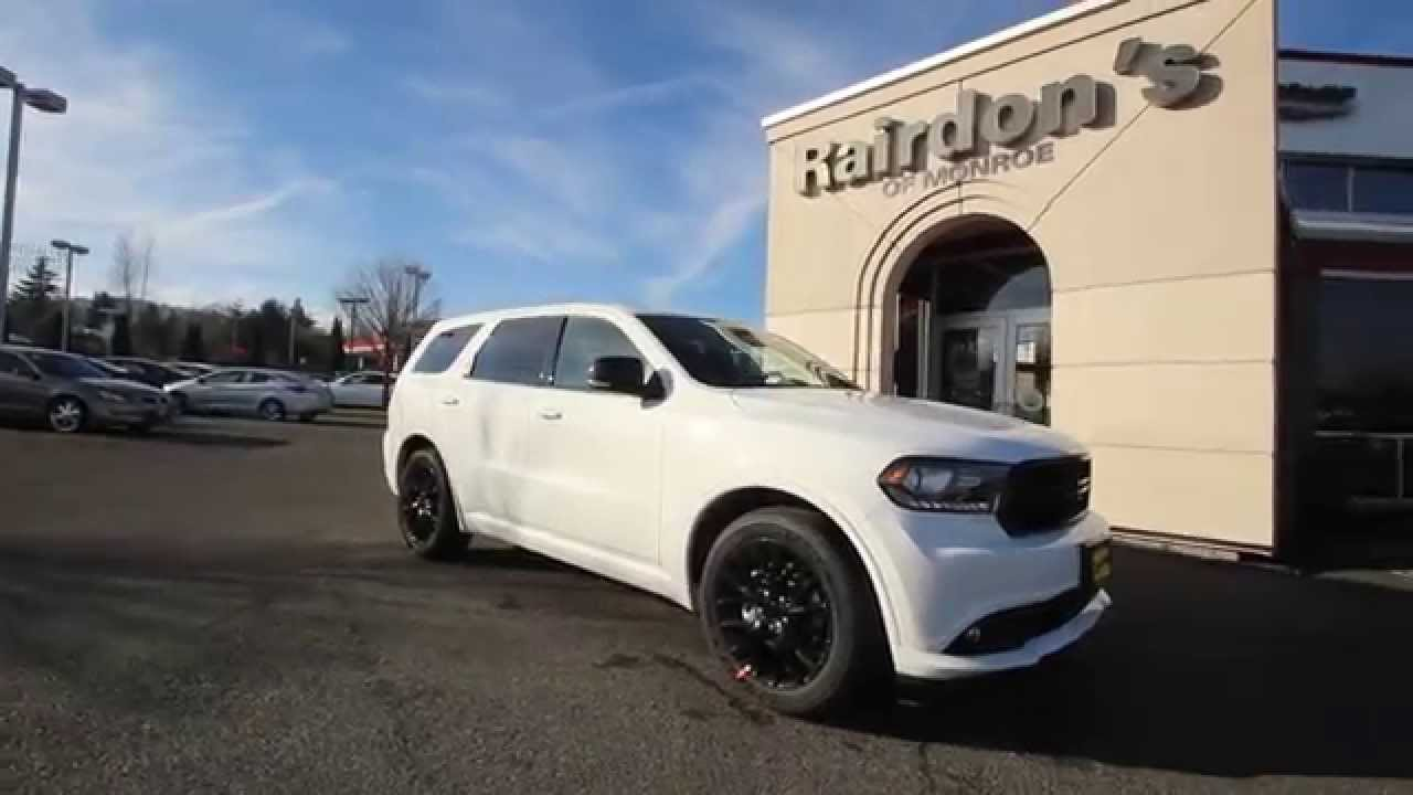 2015 Dodge Durango R T Blacktop White Fc690561