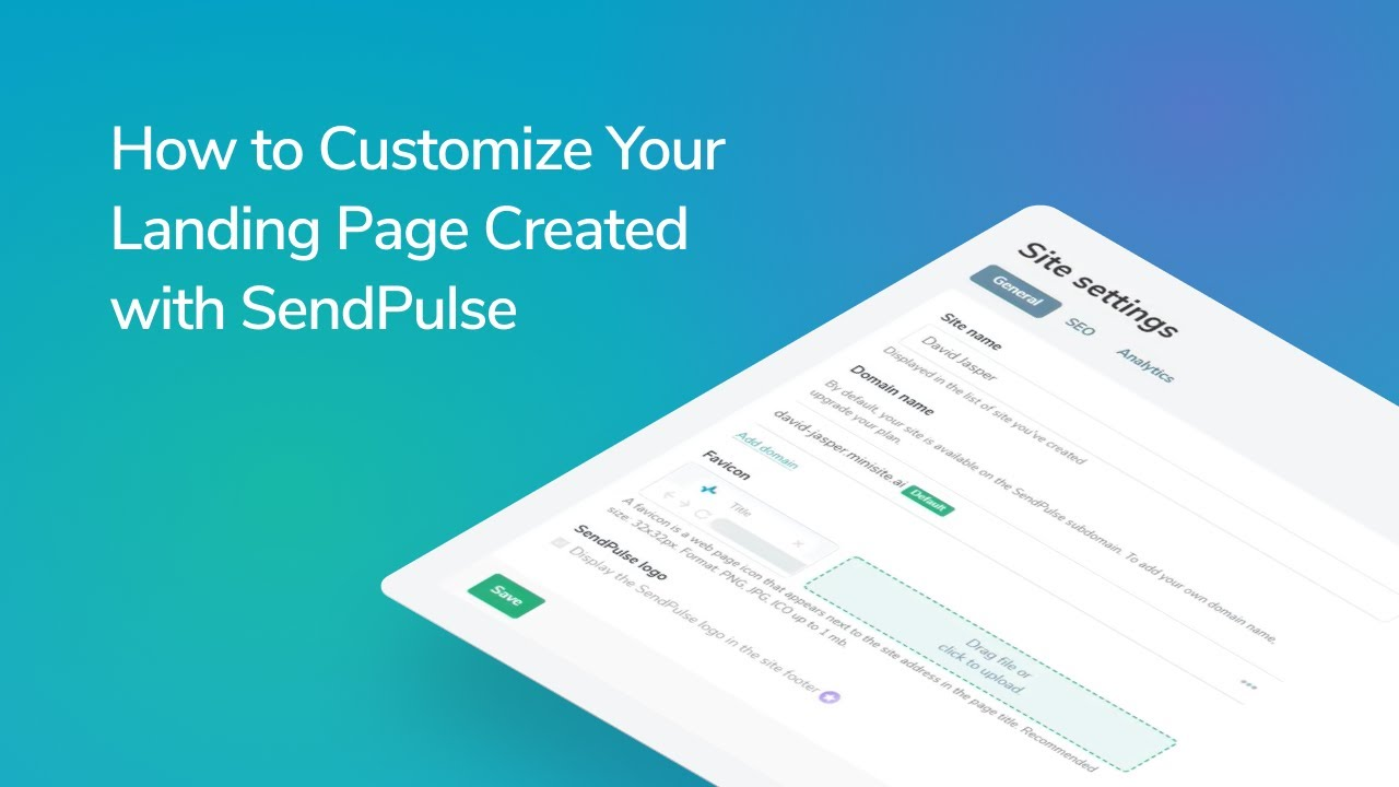 How to Customize Your Landing Page Created with SendPulse