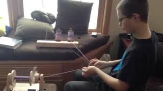 Plying Yarn on the Hansen mini spinner