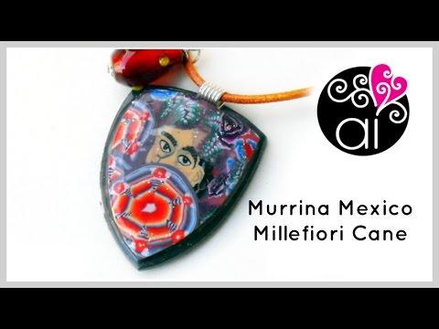 tutorial- -polymer-clay- -diy-millefiori-mexico-cane- -murrina-mexico- -mexico-collection