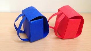 折り紙のランドセル 立体 折り方 backpack 3D Origami thumbnail