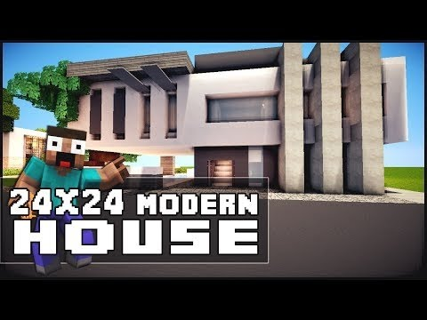 Keralis minecraft house tutorial 24x24 modern house youtube for Modern house 18x18