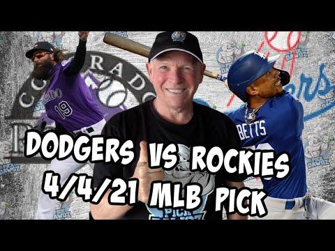 Colorado Rockies vs Los Angeles Dodgers 4/4/21 MLB Pick and Prediction MLB Tips Betting Pick