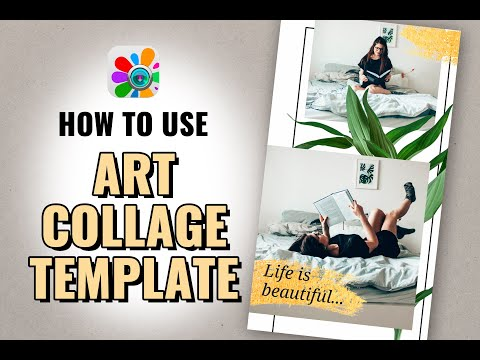 How To Create Art Photo Collage In Photo Studio | Design Collage Templates | Tutorial