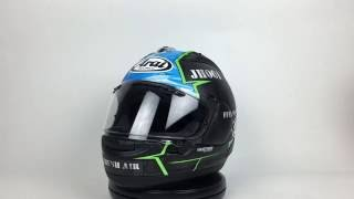 arai corsair x hayes x 15 helmet 360 view