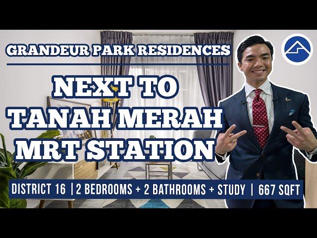 Grandeur Park Residences  Super young 2 Bedrooms + 2 Bathrooms + Study [2 mins to Tanah Merah MRT]