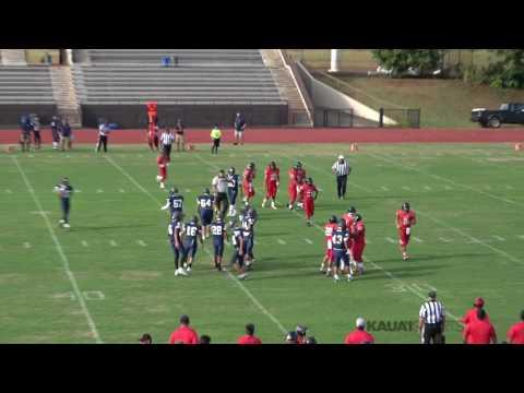 2017 Preseason JV-High School Football Kauai High vs Kamehameha