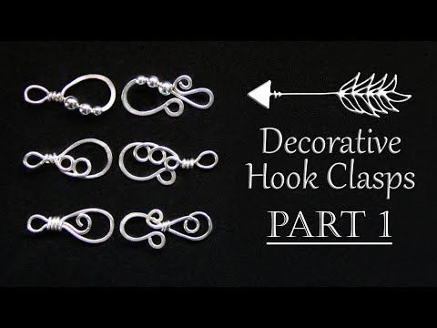 Decorative Hook & Loop Clasp Tutorial Part 1 | Beaded | How to Make Wire Wrapped Fasteners thumbnail