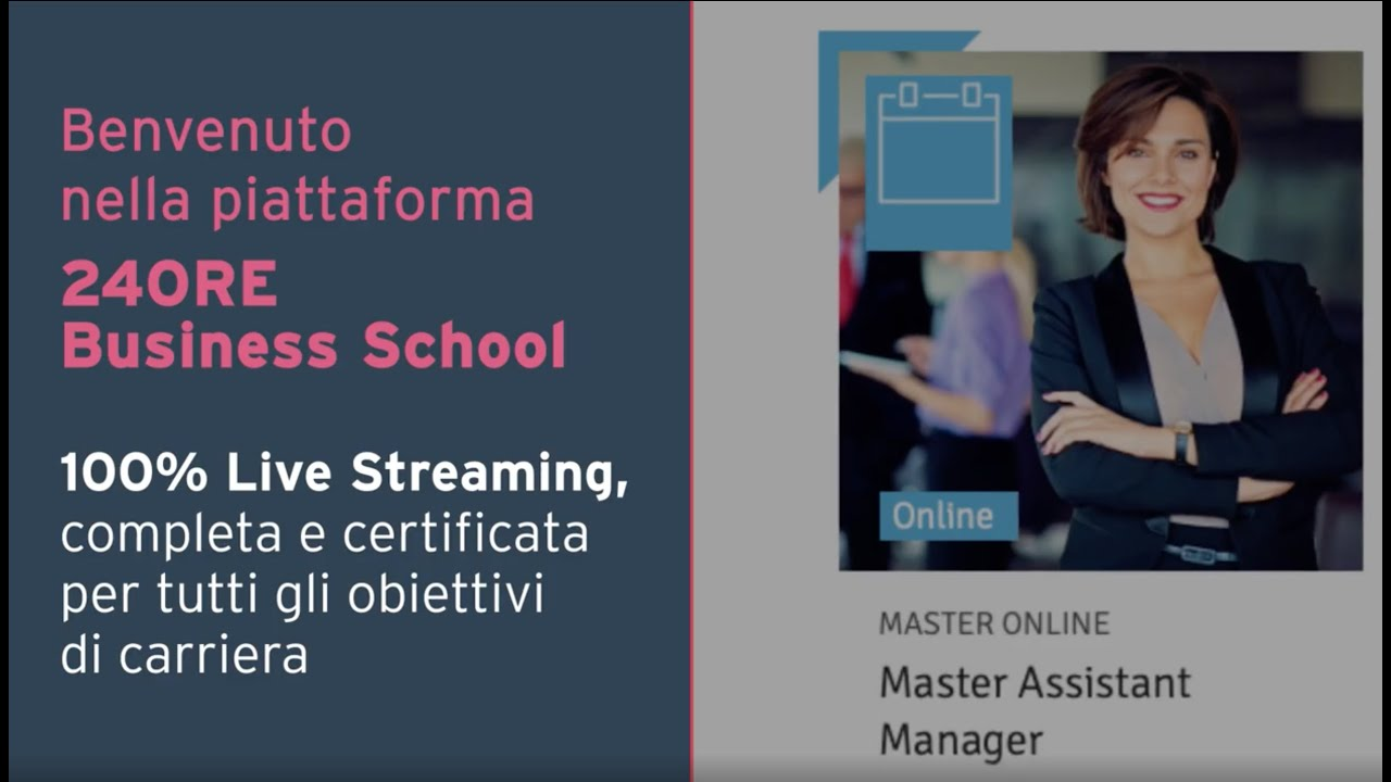 Scopri la piattaforma di 24ORE Business School | 100% Live Streaming