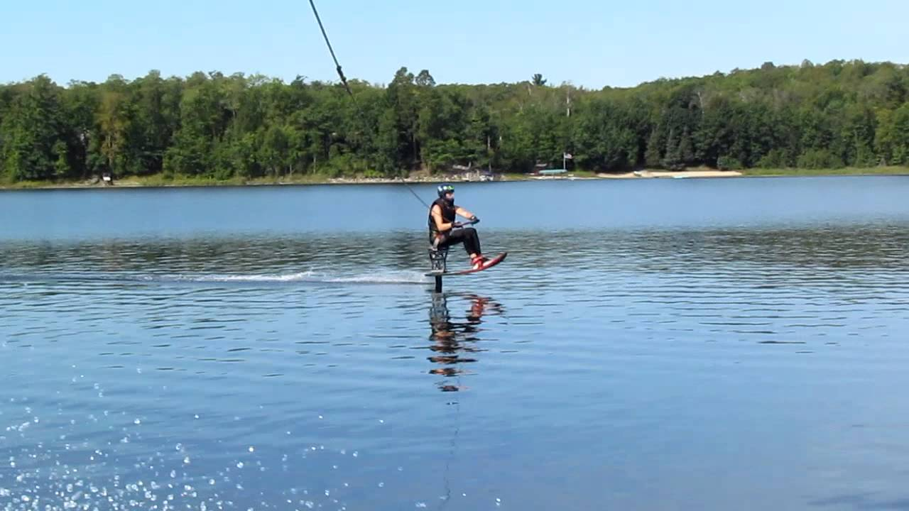 Gutsy air chair flip over dock mike murphy on hydrofoil waterskiing - Wfff Hydrofoil Trick