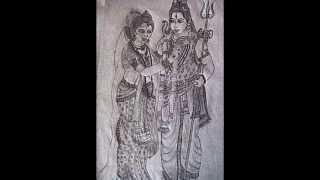LORD SHIVA PENCIL DRAWING - VARTHINI ARTS