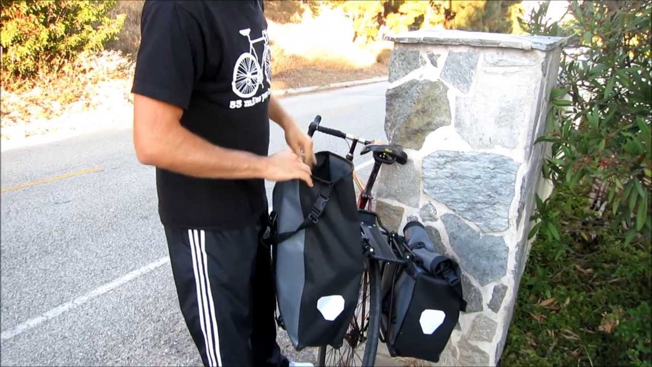 44e2a4af478 The magic of ortlieb back roller classics (pannier bag review) - YouTube