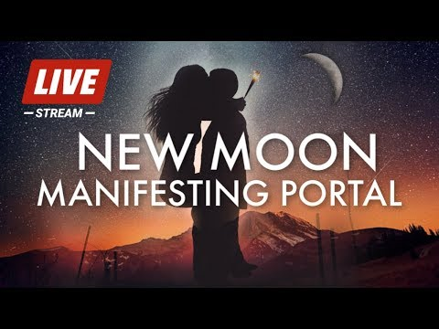 NEW MOON MANIFESTING PORTAL | 528hz MUSIC | AQUARIUS | INCREASE INTUITION | OVERCOME OBSTACLES music