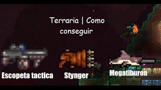 Terraria   Como conseguir Megatiburon, escopeta tactica y stynger