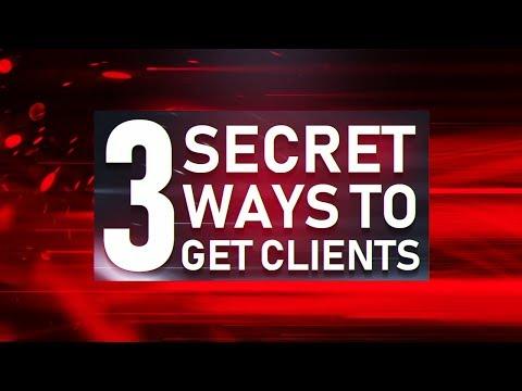 3 SECRET Ways To Get Clients As A Graphic Designer! (2019)