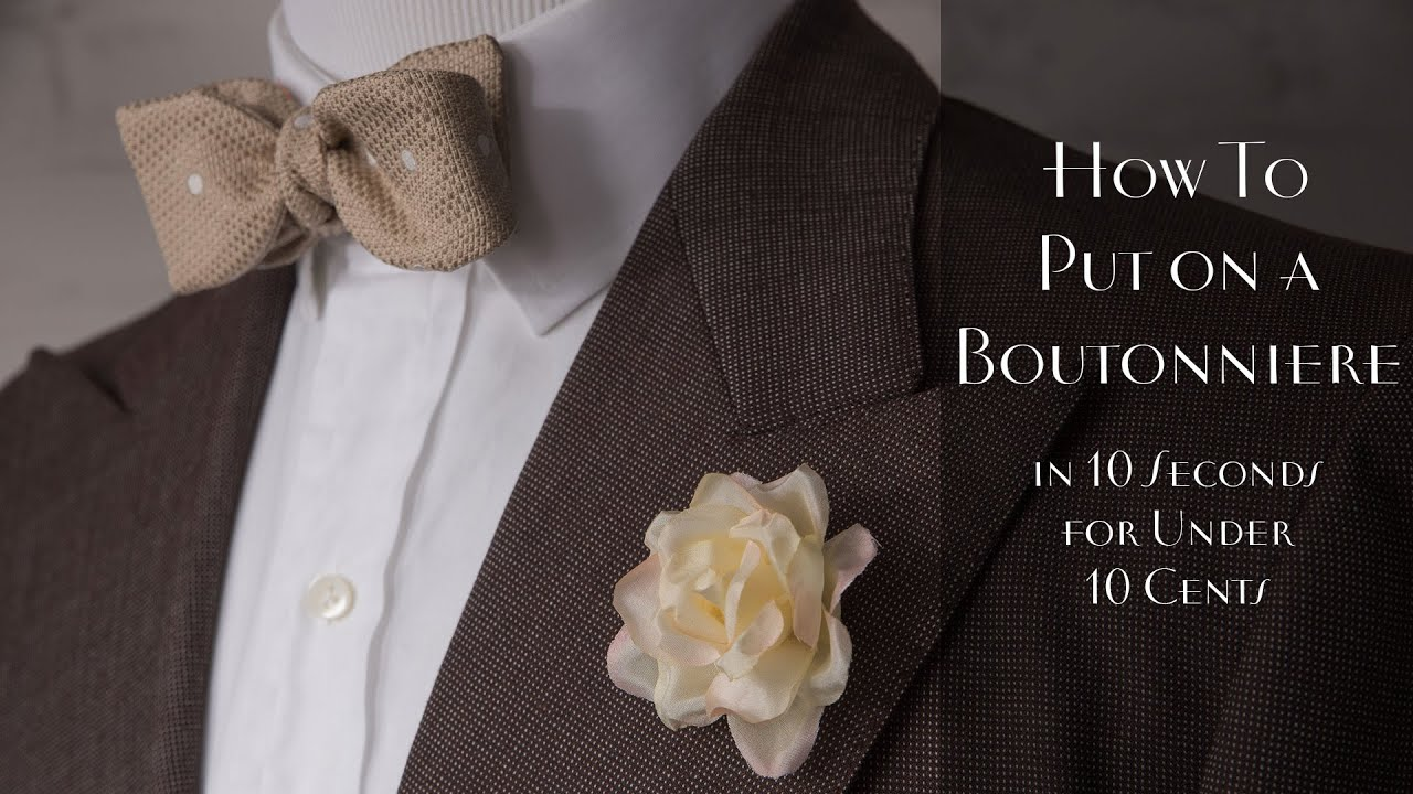 How To Put On A Boutonniere & Lapel Flower Pin The Right