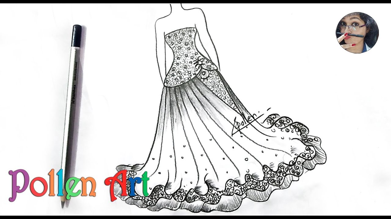 How to draw Sketch Fashion Designs Dress