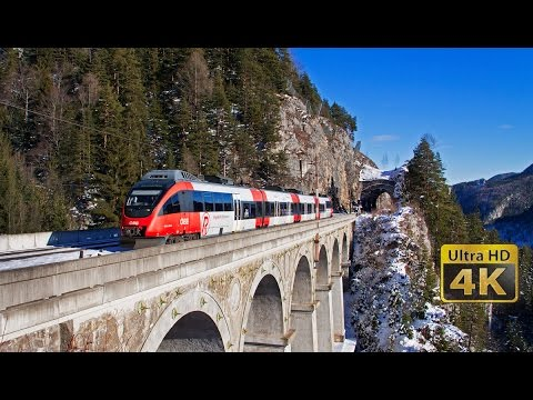 SEMMERINGBAHN - 40 minutes 4K [Ultra HD] video - New Year - Winter time