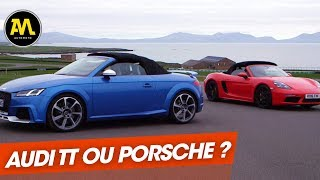 Audi TT RS vs Porsche Boxter S : deux bombes allemandes face à  face