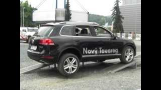 New Volkswagen Touareg polygon test to autosalon brno 2011 comercial video