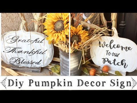 Fall DIY Pumpkin Wood Sign