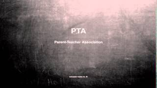 What Does Pta Mean