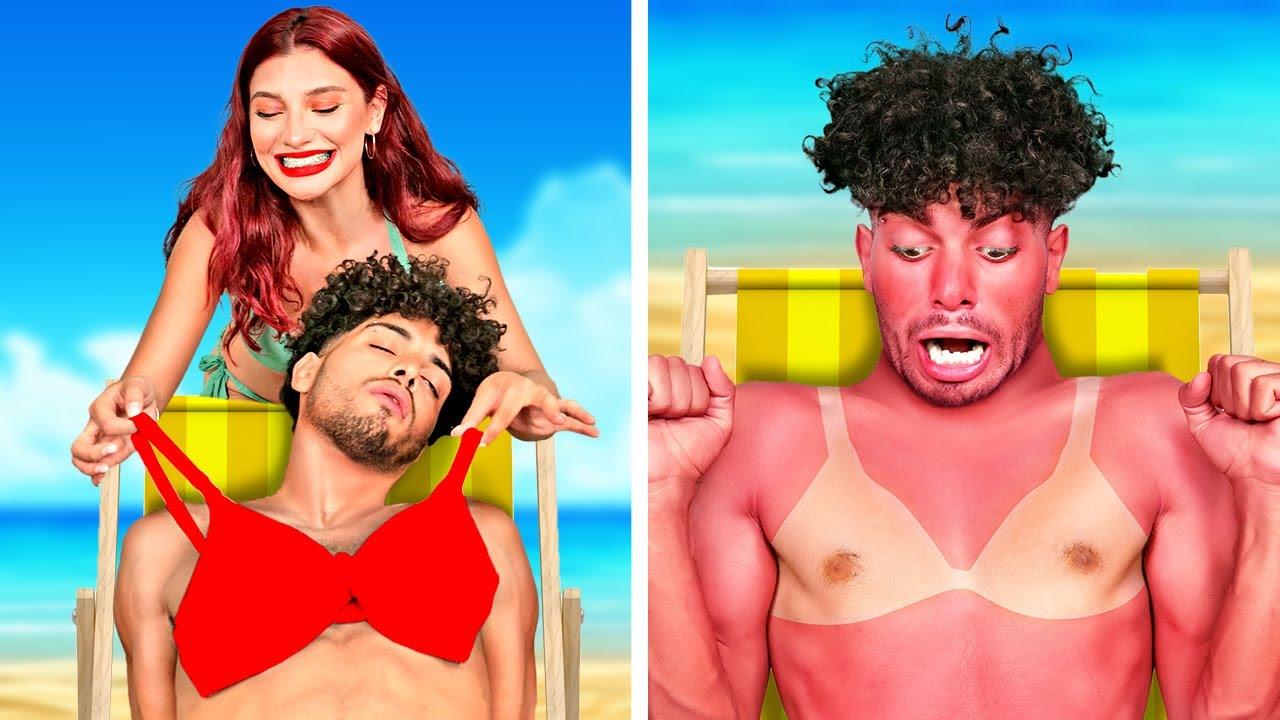 Download RICH Girl LOST in the OCEAN - RICH Girl VS BROKE Guy at the Beach | Funny Struggles by La La Life