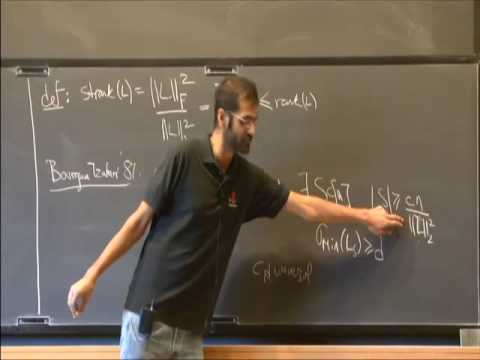 An Elementary Proof of the Restricted Invertibility Theorem - Nikhil Srivastava
