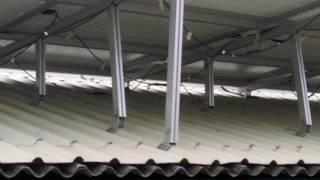 彰化太陽能-路邊隨拍 彰化埔鹽畜牧場屋頂北面屋頂支撐架撐高 工法--