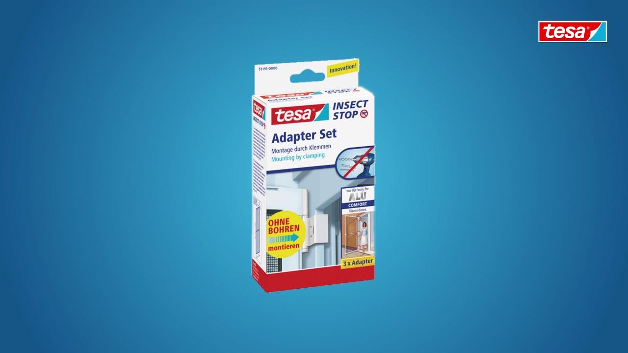 tesa insect stop fliegengitter alu comfort adapter set youtube. Black Bedroom Furniture Sets. Home Design Ideas